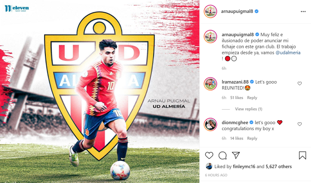Released Manchester United youngster Arnau Puigmal signs deal with Spanish club - Bóng Đá